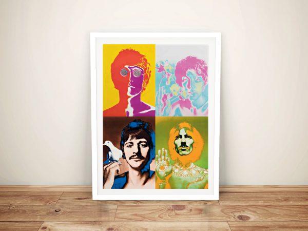 The Beatles Pop Art Framed Wall Print