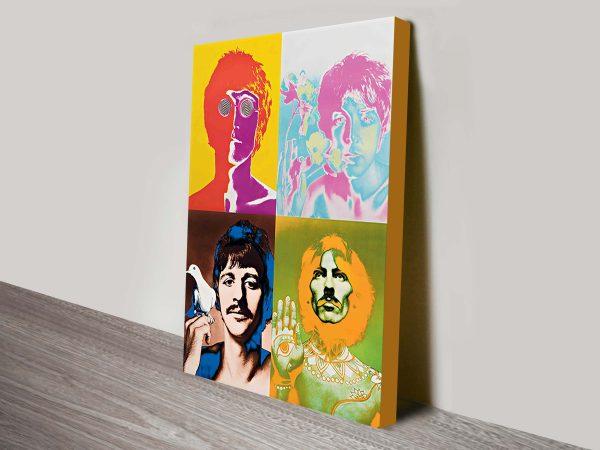 beatles pop art canvas print