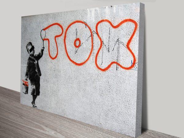 Tox Banksy Canvas Art Print