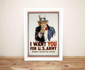 Uncle Sam recruitment poster Framed