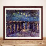 van Gogh starry night over the-rhone Framed Wall Art Print