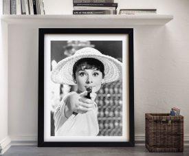 Audrey Hepburn Gun Pop Art Print Sydney