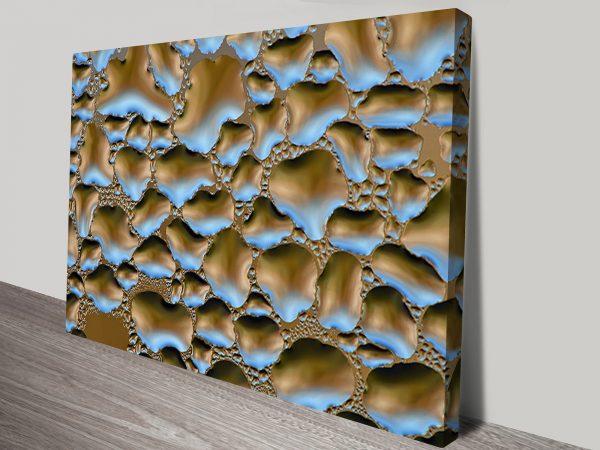 Aquascopic Abstract Canvas Art Print