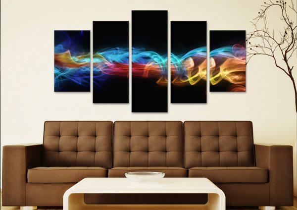 Fire & Ice 5-Panel Art Set Great Gift Ideas Online