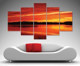 5 panel canvas wall art