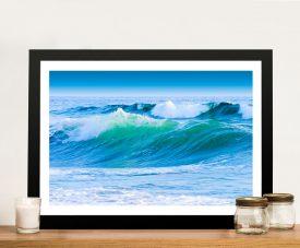 Azure Seas Surf Art Framed Prints Australia