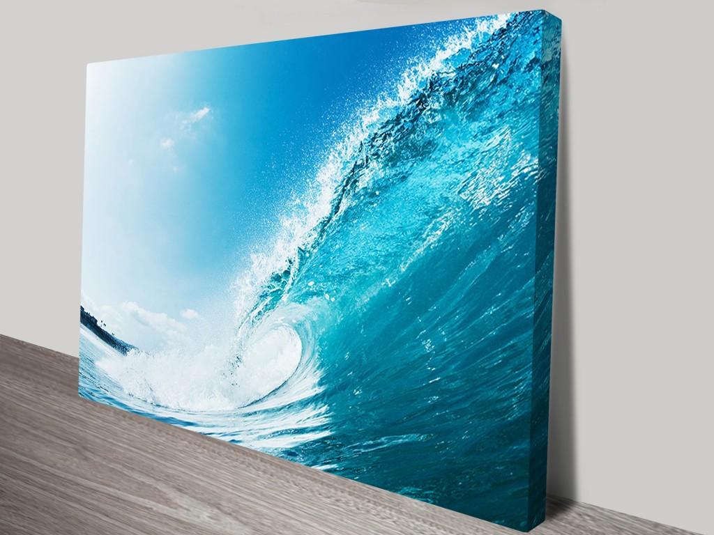 Aqua Barrels Surf Art And Seascape Prints