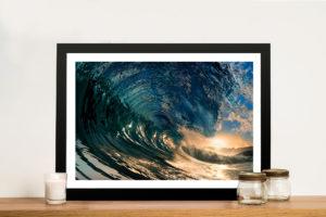 Crystal Waves Surf Framed Wall Art