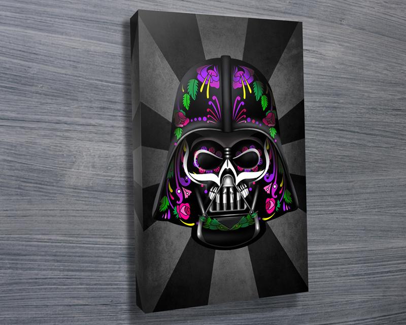 Darth Vader Dia de los Muertos Wall Art Print