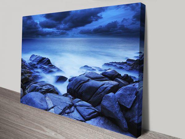 Ocean Dreamscape Framed Canvas Wall Art