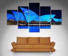Opera House Lights Canvas Art