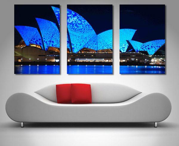 Opera-House Lights triptych wall art