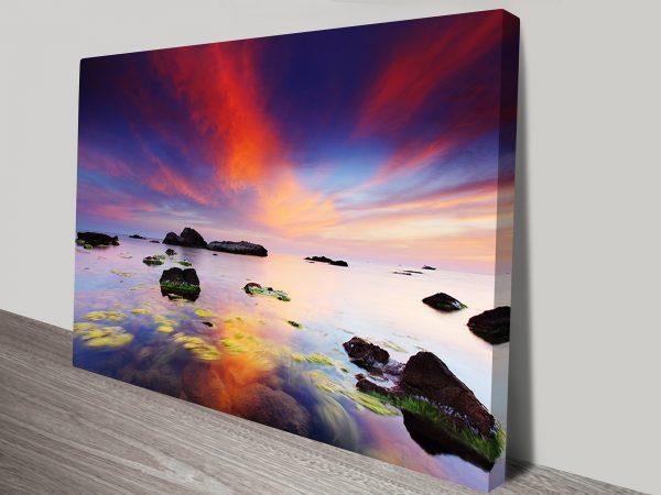 Perfect Sunrise Seascape Print on Canvas