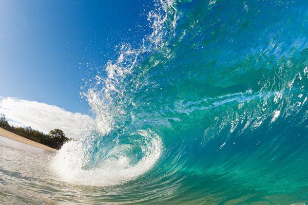 Rolling Waves Surf Canvas Art Print