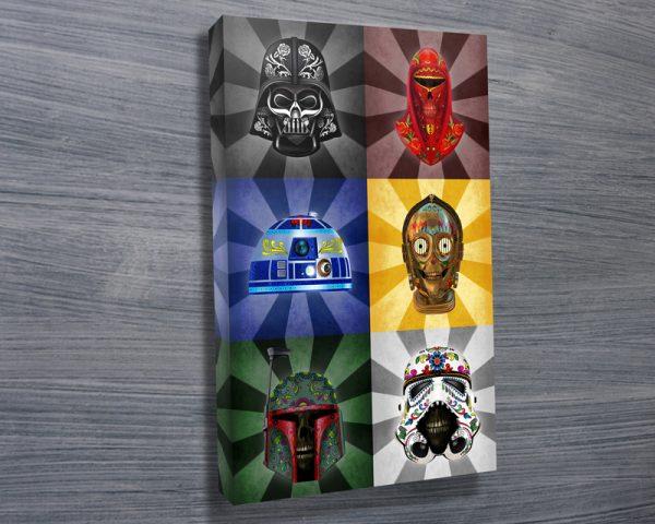 Star Wars art dia de los muertos