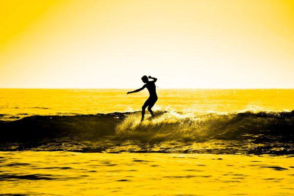 Sunset Surf Canvas Photo Prints