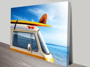 Surf Trip VW Van Canvas Print