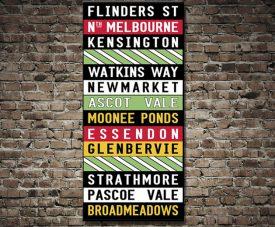 Flinders Street tram scroll print