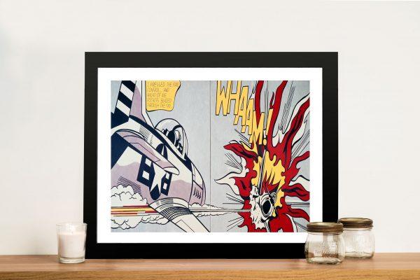 Roy Lichtenstein Whaam Framed Wall Art