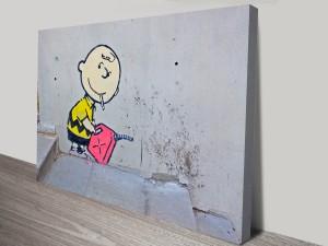 Banksy Charlie Brown Arsonist Canvas Print