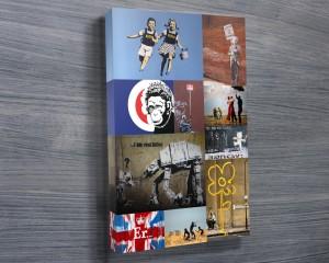 Banksy Colour collage