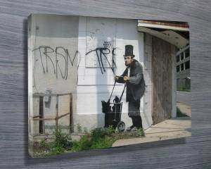 Banksy Lincoln canvas print