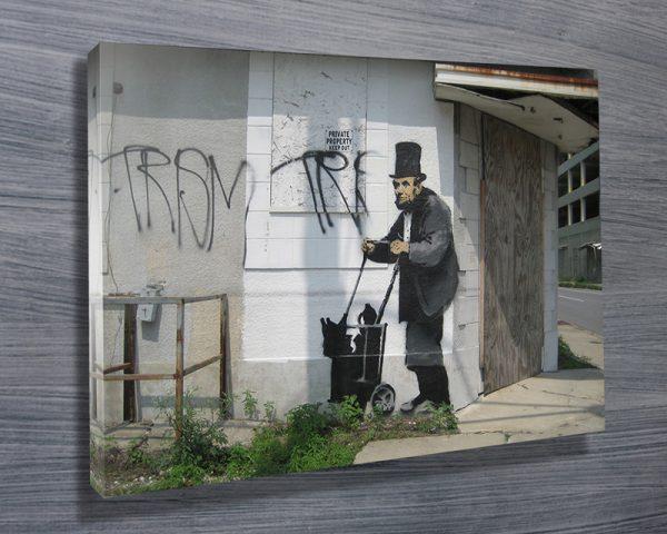 Buy a Banksy Lincoln Graffiti Print Cheap Online