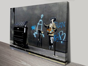 Banksy Penis Painter Artwork on Canvas
