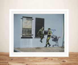 Banksy Looters New Orleans Framed Artwork