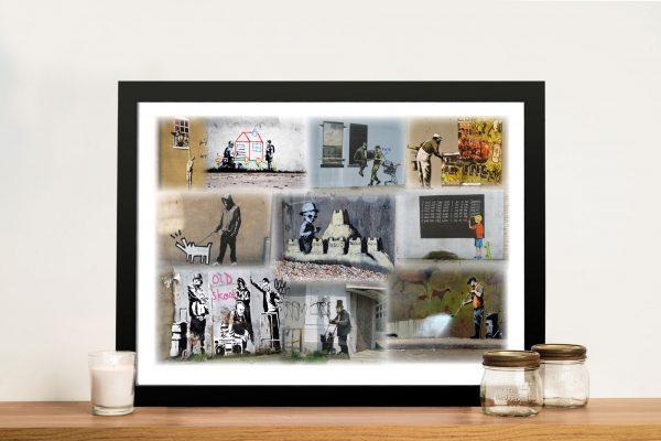 Bansky Collage Framed Wall Art Melbourne