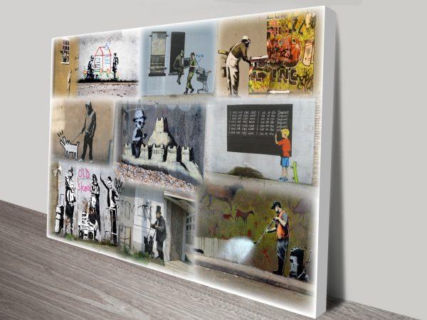 Banksy Colour collage art