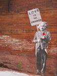 Love is-the answer einstein canvas art