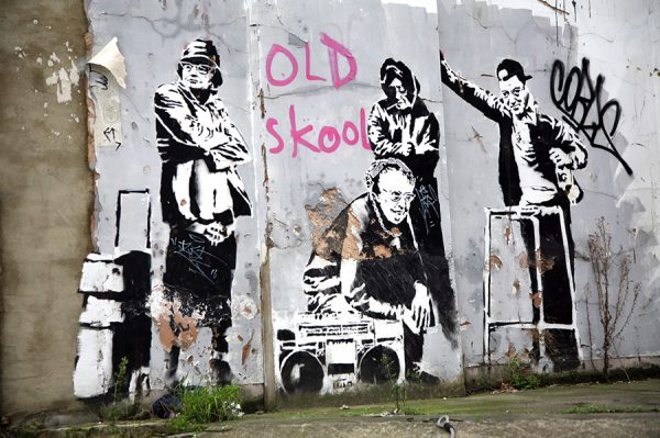 banksy-old-skool wall picture poster art
