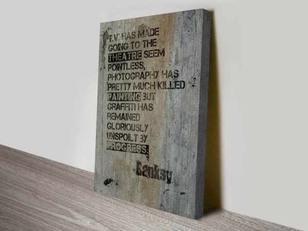 Banksy Quote Stretched Canvas Artwork Online