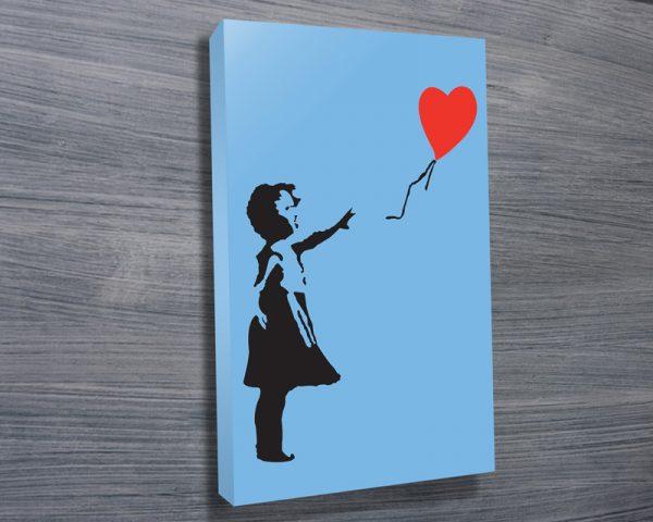 banksy balloon girl in blue