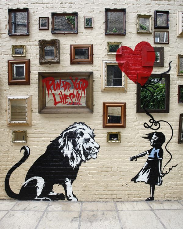 New Banksy Mural At The Princess Of Wales Pub In Primrose Hill