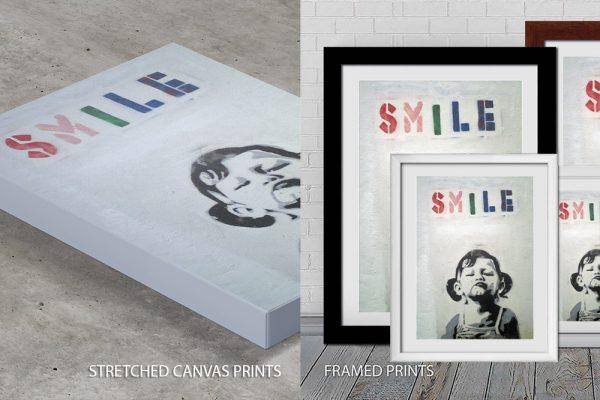 Smile Banksy Quality Art Print