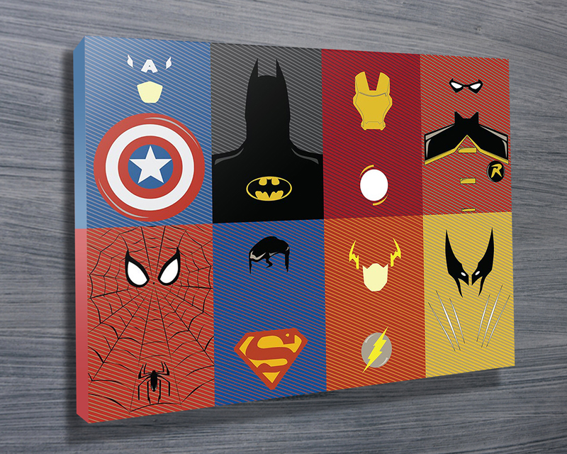 Superior Marvel Characters Wall Art