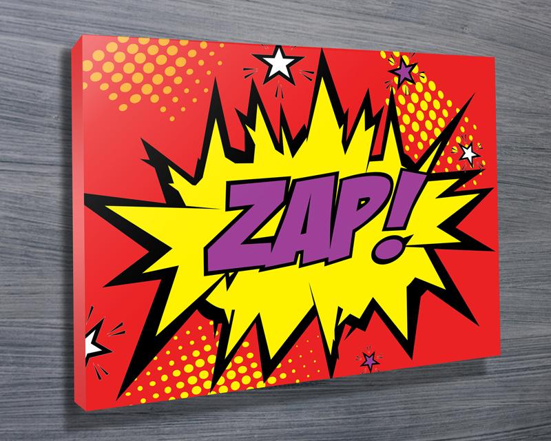 Zap Comic Book Art Print