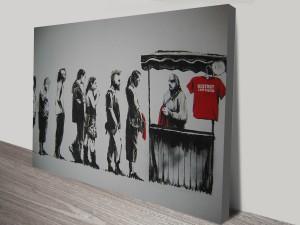 Banksy Destroy Capitalism Canvas Wall Art Australia