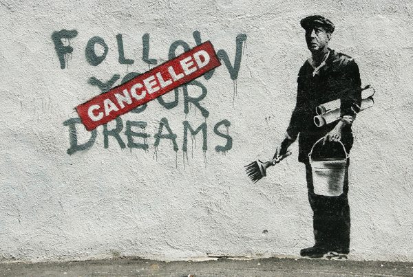 Banksy Follow Your Dreams Canvas Art Picture Brisbane