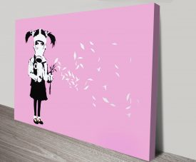 Banksy Gas Mask Girl Canvas Art Print