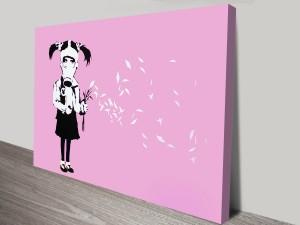 Banksy Gas Mask Girl Canvas Art Print