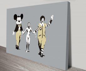 Banksy Napalm Canvas Wall Art Australia