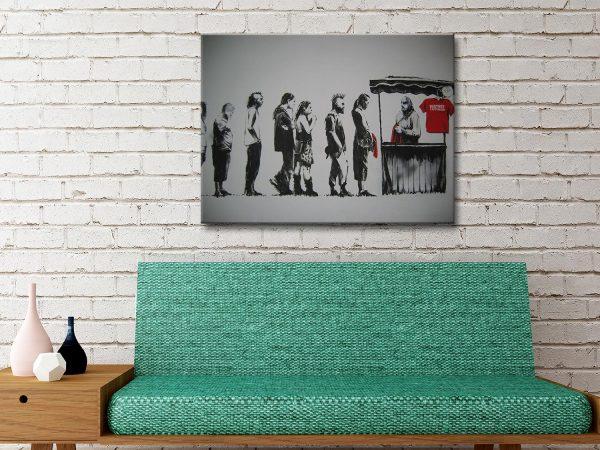 Banksy Destroy Capitalism Canvas Artwork