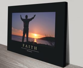 Faith Motivational Print on Canvas
