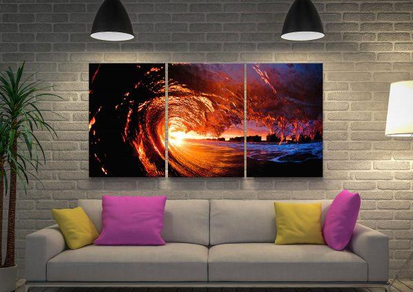 Fire Water Seascape Triptych Gift Ideas Online