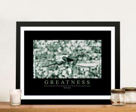 Greatness Framed Motivational Office Art