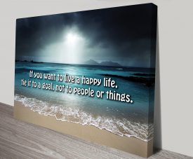 Happy Life Inspirational Quote Art