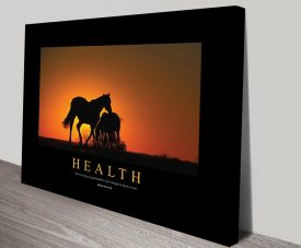 Health Motivational Stretched Canvas Print